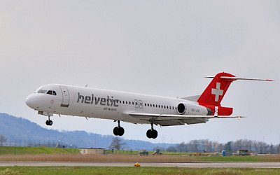 Helvetic Airways - Fokker 100 - Curych