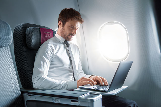 Eurowings - palubní internet