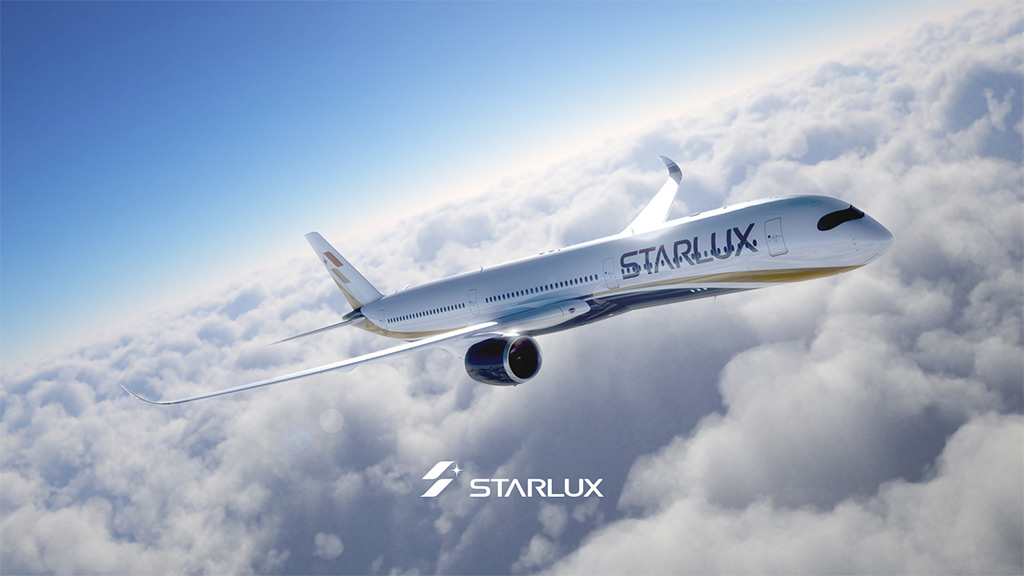 Airbus A350 v barvách Starlux Airlines (foto: Starlux Airlines)