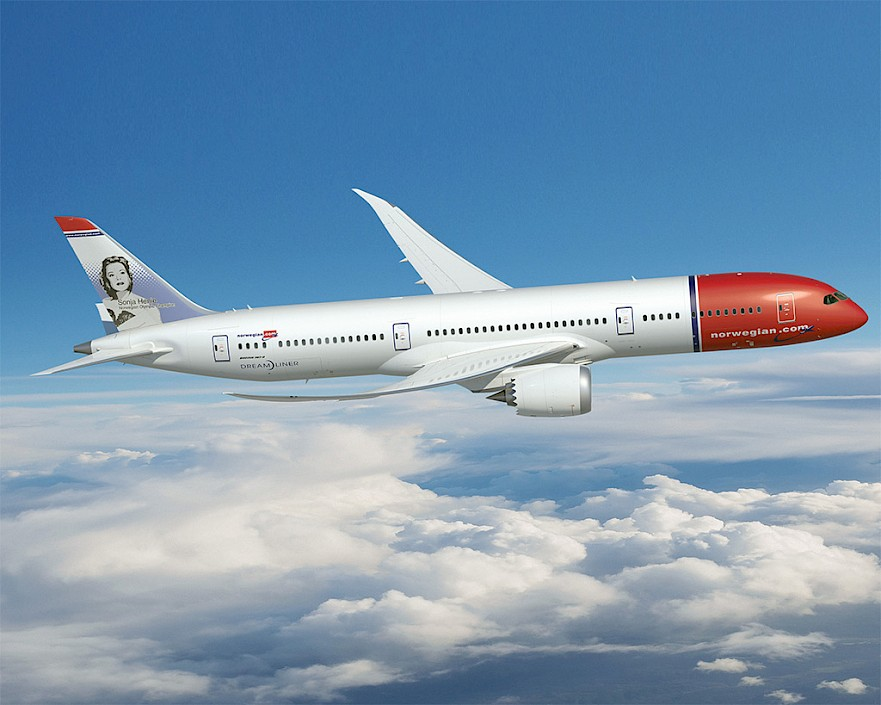 Norwegian - Boeing 787 Dreamliner (foto: Norwegian)