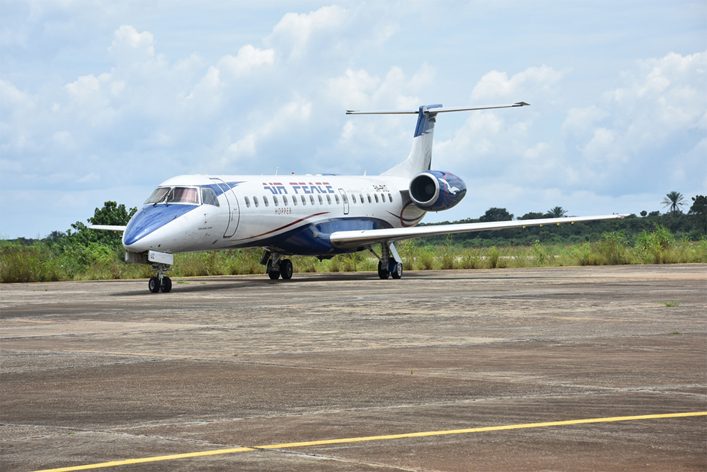 Embraer ERJ-145 létající u Air Peace Hopper (foto: Embraer)