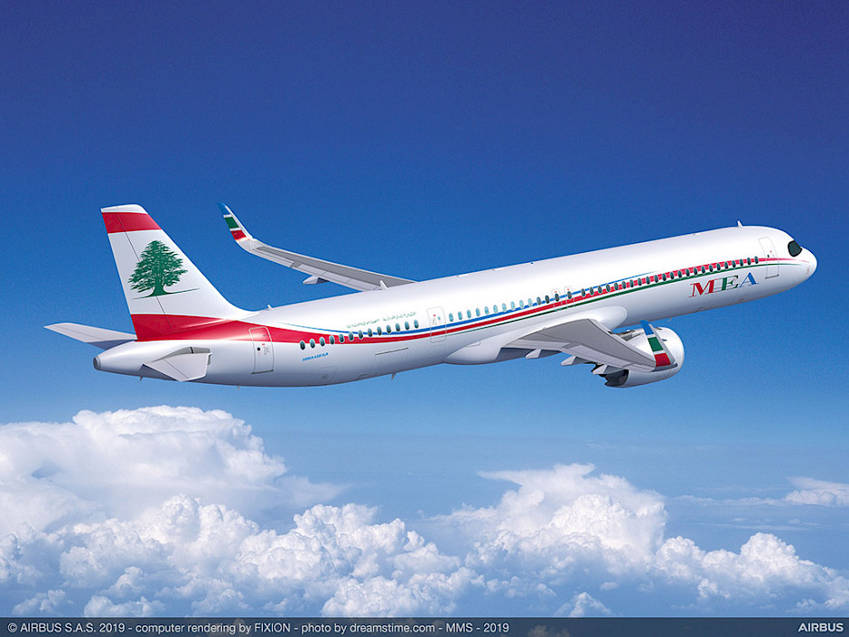 MEA - Middle East Airlines - Airbus A321XLR (foto: Airbus)