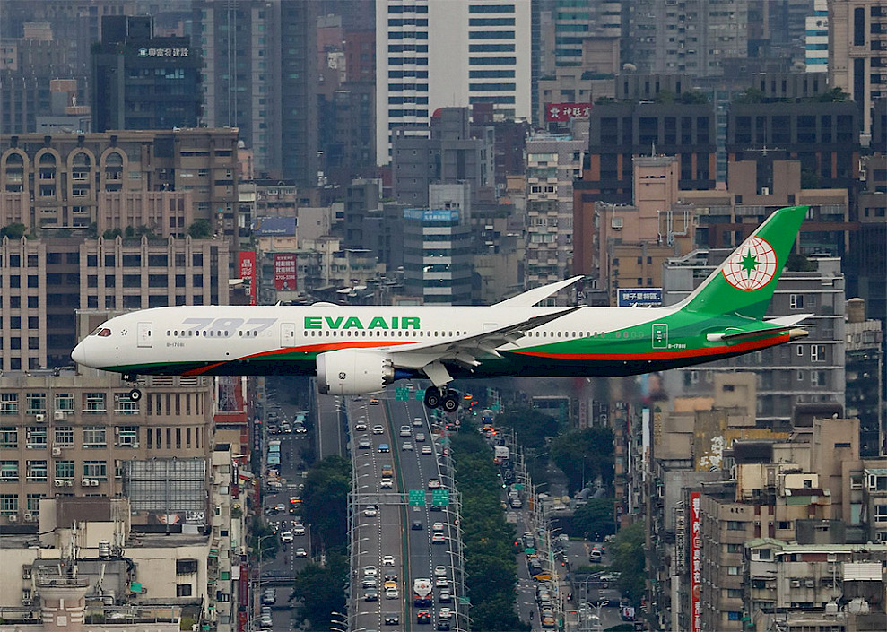 EVA Air - Boeing 787 Dreamliner (foto: 湯小沅/Wikimedia Commons - CC0)
