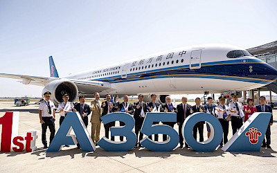 První Airbus A350-900 v barvách China Southern Airlines (foto: Airbus)
