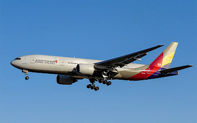 Asiana Airlines - Boeing 777-200ER (foto: N509FZ/Wikimedia Commons - CC BY-SA 4.0)