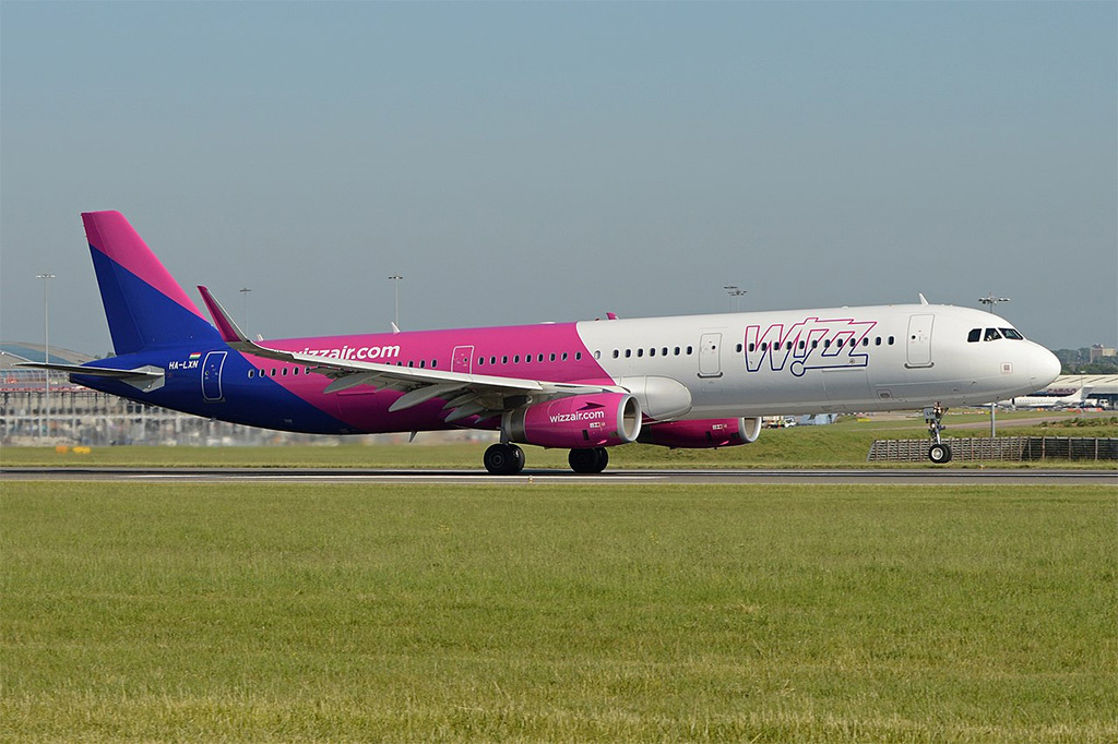 Wizz Air - Airbus A321 (foto: Alan Wilson/Wikimedia Commons - CC BY-SA 2.0)